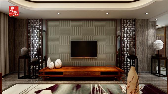 新中式硅藻泥装修效果图,归属东方的空间美韵