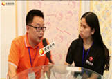 硅藻泥网在上海展会上采访童总